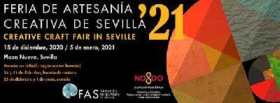 Cartel de la XXI Mercado Navideño de Artesanía de Sevilla 2020 - 2021
