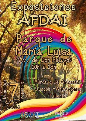Mercado Afdai en el Parque de María Luisa Sevilla (diciembre 2014)