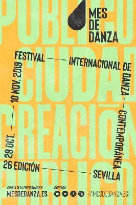 Cartel de la 26 edición de la Muestra Internacional de Danza Contemporánea de Sevilla