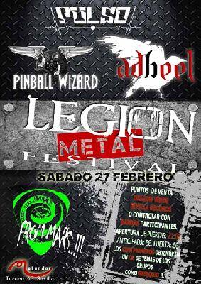 Concierto: Metal Legion Fest en Malandar Sevilla (febrero 2016)