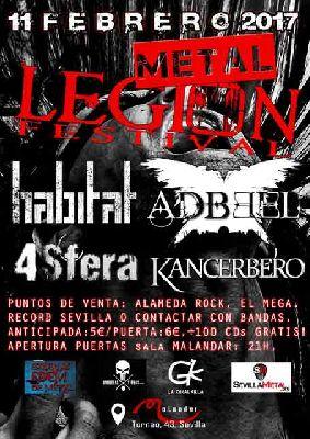 Concierto: Metal Legion Fest en Malandar Sevilla (febrero 2017)