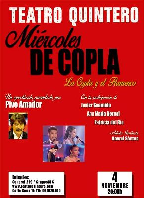 Concierto: La Copla y el Flamenco en el Teatro Quintero de Sevilla