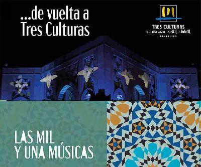Cartel de los conciertos Las mil y una músicas en Tres Culturas de Sevilla 2020