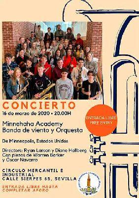 Cartel del concierto de Minnehaha Academy en el Círculo Mercantil de Sevilla 2020