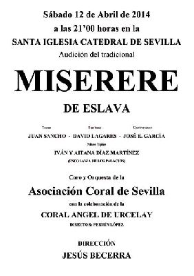 Miserere de Hilarión Eslava 2014