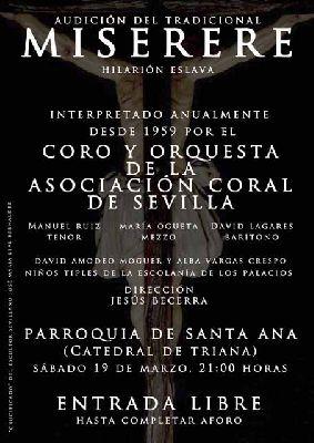 Miserere de Hilarión Eslava en Sevilla 2016