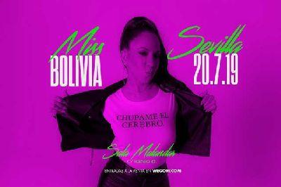 Cartel del concierto de Miss Bolivia en Malandar Sevilla 2019