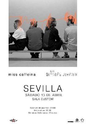 Cartel del concierto de Miss Caffeina en Custom Sevilla 2019
