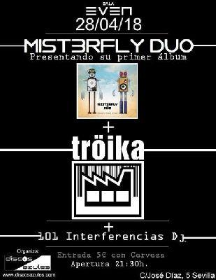Concierto: Mist3rfly Dúo y Tröika en la Sala Even Sevilla (abril 2018)