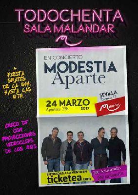 Concierto: Modestia Aparte en Malandar Sevilla