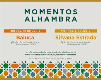 Cartel de los conciertos Momentos Alhambra en el CAAC de Sevilla 2021
