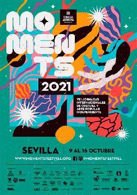 Cartel del VIII Moments Festival de cultura independiente en Sevilla 2021