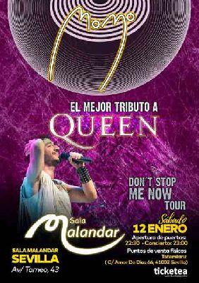Cartel del concierto de Momo (tributo a Queen) en Malandar Sevilla 2019