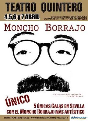 Teatro: Moncho Borrajo. Único en el Teatro Quintero Sevilla
