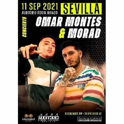 Cartel del concierto de Morad y Omar Montes en el Auditorio Rocío Jurado de Sevilla 2021