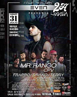 Cartel del concierto de Mr. Rango y Colectivo SE95 en la Sala Even Sevilla 2021