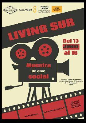 Cartel de la I Muestra de Cine Social Living Sur en Sevilla 2019
