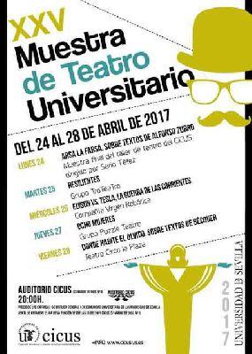 XXV Muestra de Teatro Universitario en el CICUS de Sevilla 2017