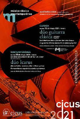 Cartel de los conciertos de música de cámara en el CICUS Sevilla (mayo 2021)