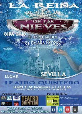 Musical: La reina de las nieves en el Teatro Quintero de Sevilla