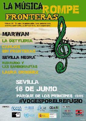 Concierto: La música rompe fronteras en el parque de los Príncipes de Sevilla