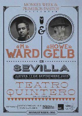 Concierto: M. Ward y Howe Gelb en el Teatro Quintero de Sevilla
