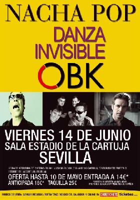 Concierto: Nacha Pop, Danza Invisible y OBK en Sevilla