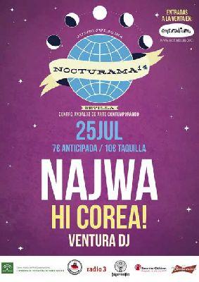 Concierto: Najwa y Hi Corea! en Nocturama Sevilla 2014
