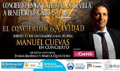 Concierto benéfico de Manuel Cuevas en la Catedral de Sevilla