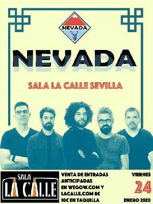 Cartel del concierto de Nevada en sala La Calle Sevilla 2020