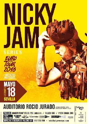 Concierto: Nicky Jam en el Auditorio Rocío Jurado de Sevilla 2018