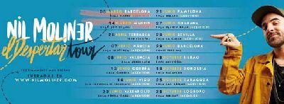 Cartel de la gira El despertar Tour 2019 de Nil Moliner