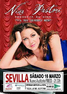 Concierto: Niña Pastori Ya no quiero ser en Sevilla