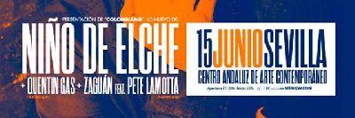 Cartel del concierto del Niño de Elche en el CAAC Sevilla 2019