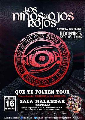 Concierto: Los Niños de los Ojos Rojos en Malandar Sevilla 2018