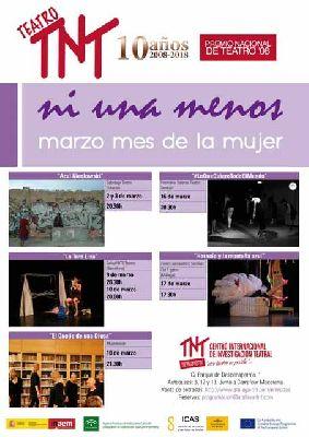 Teatro: ciclo Ni una menos en el Centro TNT-Atalaya Sevilla 2018