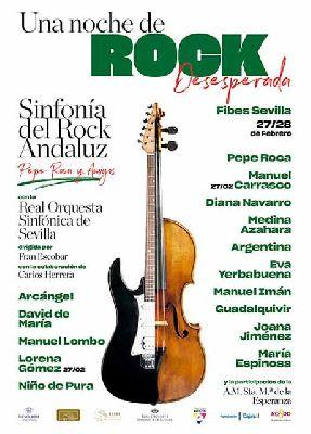 Cartel del concierto Una noche de rock desesperada (Sinfonía del Rock Andaluz)