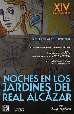 Conciertos Noches del Alcázar Sevilla 2013: 19 al 23 de junio