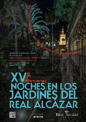 Conciertos Noches del Alcázar Sevilla 2014: 8 al 13 septiembre