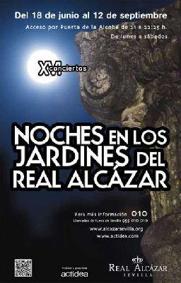 Conciertos Noches del Alcázar Sevilla 2015: 20 al 25 julio