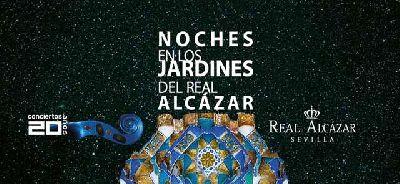 Cartel del ciclo Noches en los Jardines del Alcázar de Sevilla 2019