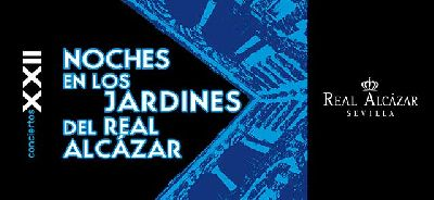 Cartel del ciclo Noches en los Jardines del Alcázar de Sevilla 2021