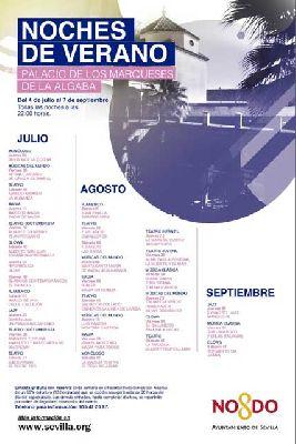 Cartel del ciclo Noches de verano en Palacio 2019 en Sevilla