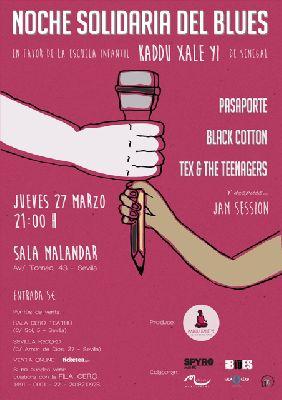 Concierto: Noche Solidaria del Blues en la sala Malandar Sevilla