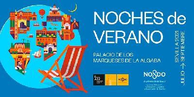 Cartel de las Noches de verano Palacio de los Marqueses de la Algaba Sevilla 2021