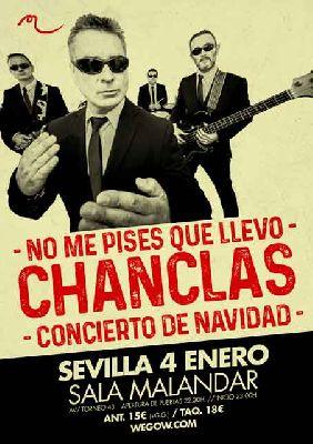 Cartel del concierto de No me pises que llevo chanclas en Malandar Sevilla 2019
