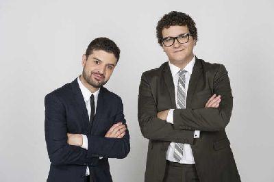 Foto promocional de Facu Díaz y Miguel Maldonado de No te metas en política