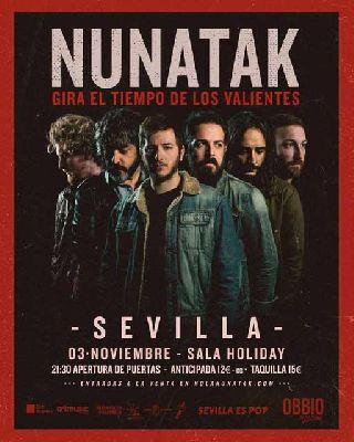 Concierto: Nunatak en la Sala Holiday de Sevilla 2018