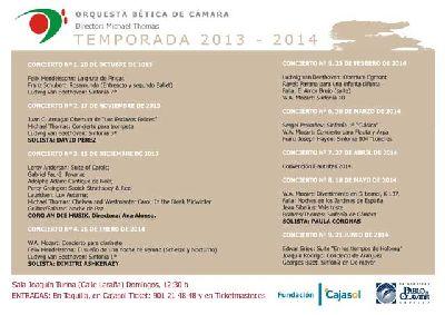 Temporada de la Orquesta Bética de Cámara 2013 - 2014 en Sevilla
