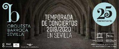 Cartel de la temporada 2019-2020 de la Orquesta Barroca de Sevilla